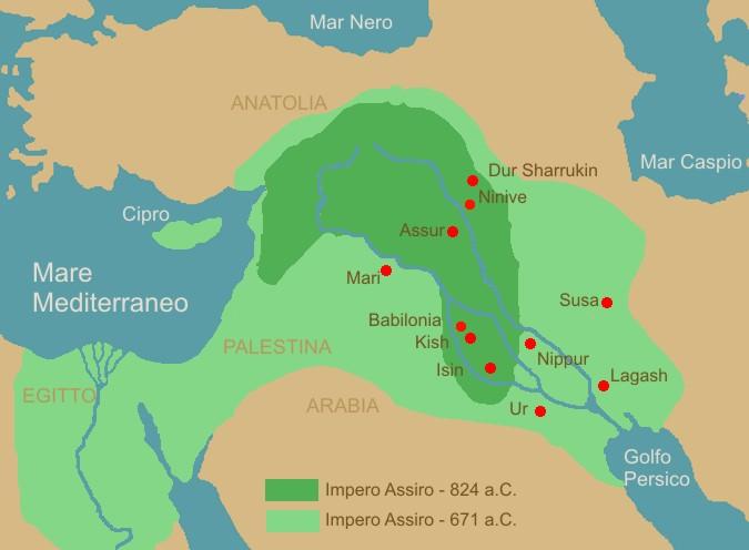 Gli assiri for Citta della siria che da nome a un pino